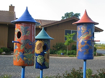 Three birdhouses