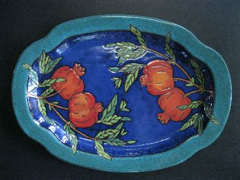 Blue Pomegranate Platter