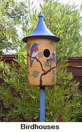 Ceramic bluebird house