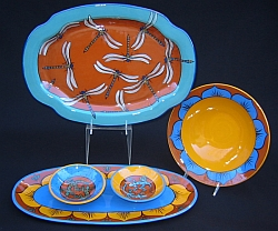 Low-fire pottery platters