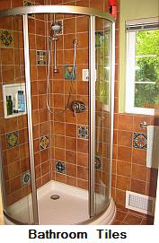 California tile shower