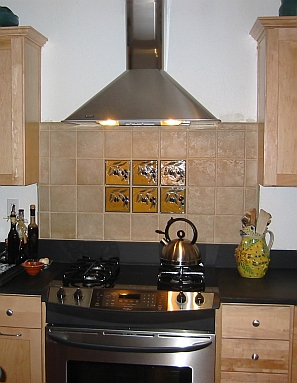 Olive kitchen tiles
