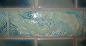 Swimming fish tiles, detail 1