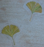 Tile detail -- gingko leaves